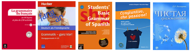 A selection of grammar books in our main languages | The European
